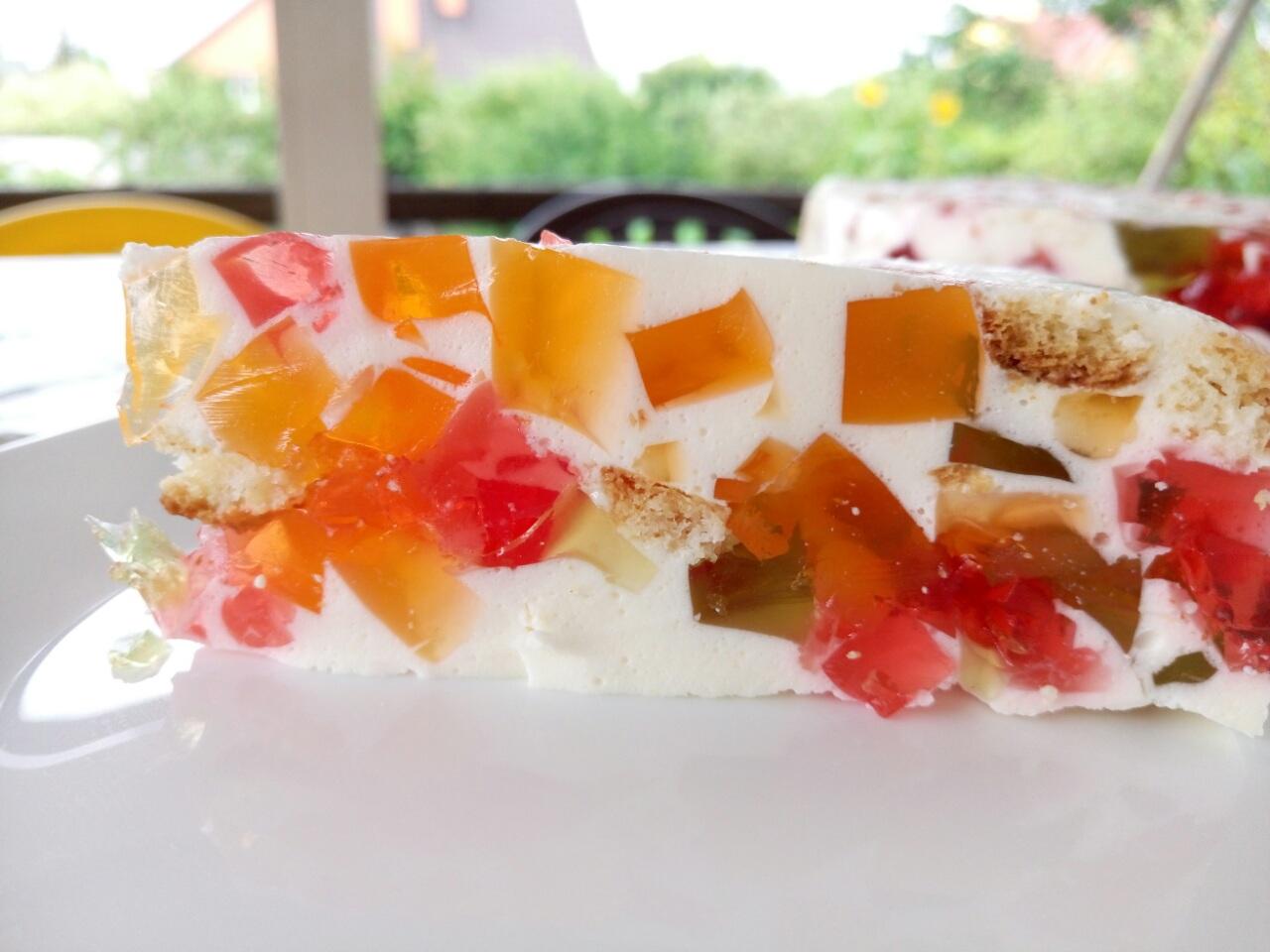 Желейный торт «Стекляшки»