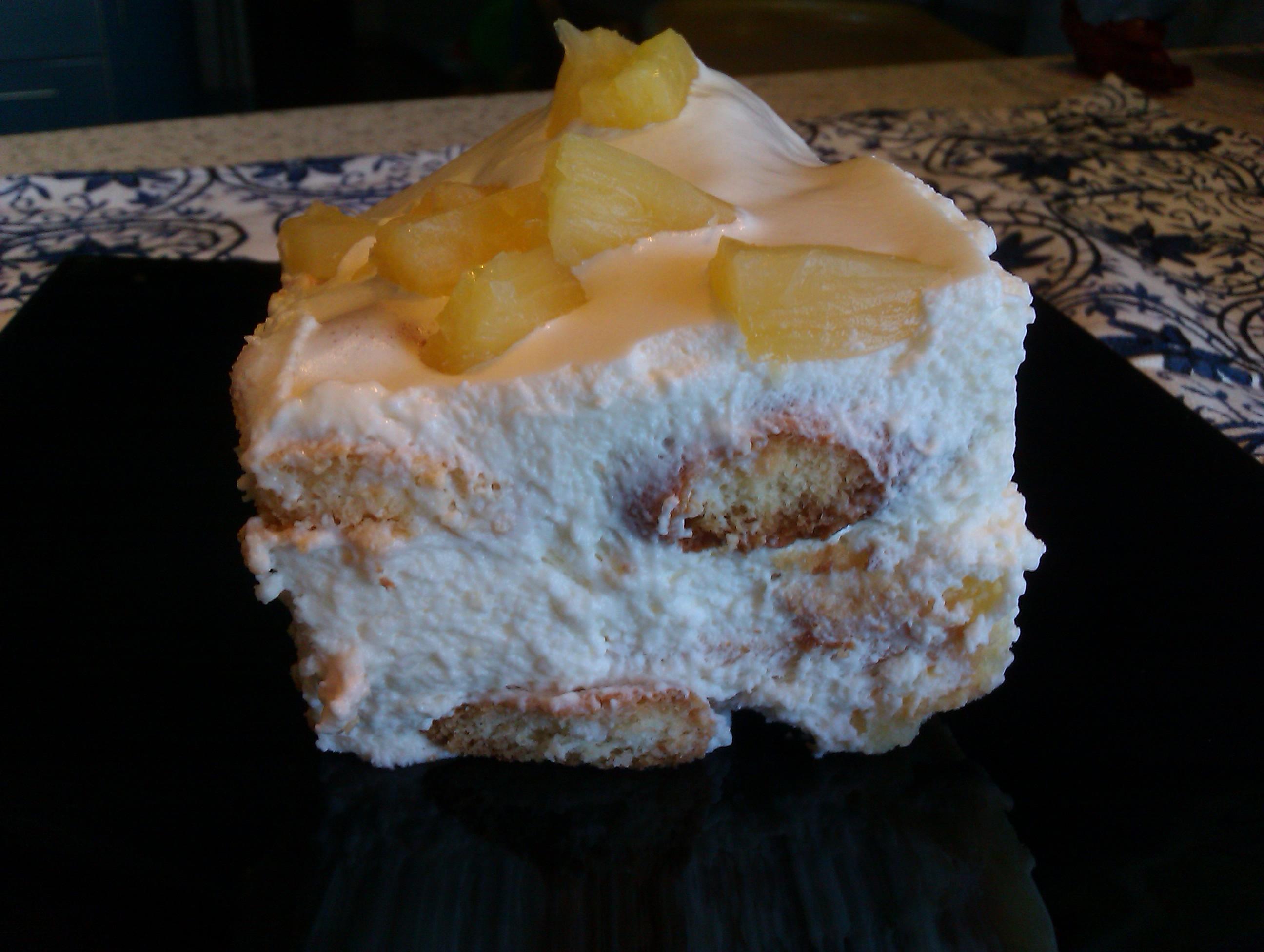 Ананасово-сливочный десерт